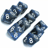 Blue & Black 'Stealth' Speckled D10 Ten Sided Dice Set